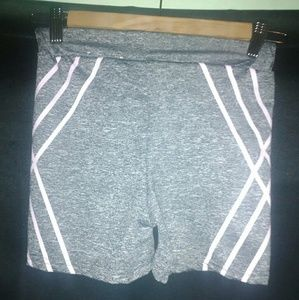 Pants - Small Grey & Pink Biker Shorts
